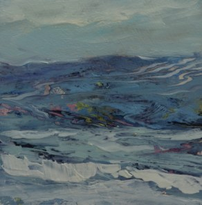 TM8676 Watching the Waves Come In #176 6x6 oil