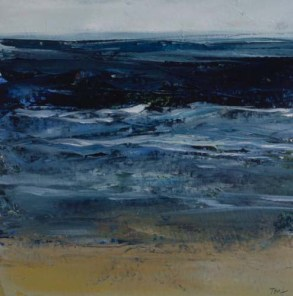 TM8642 Watching the Waves Come In #159 6x6 oil