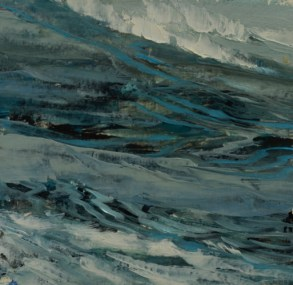TM8672 Watching the Waves Come In - Winter #4 6x6 oil