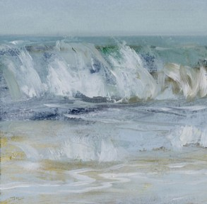 TM8606 Watching the Waves Come In #151 6x6 oil