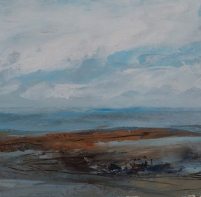 TM8719 Out on the Spit #2 6x6 oil on paper