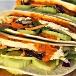 twsited thai-chicken curry tacos