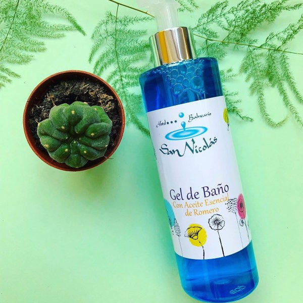 gel de baño con aceite esencial de romero San nicolás