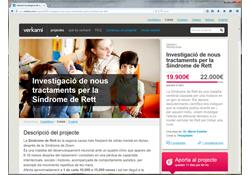 http://www.verkami.com/projects/9255-investigacion-de-nuevos-tratamientos-para-el-sindrome-de-rett#