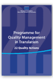 Programme for quality management in translation