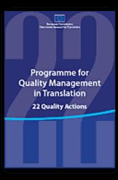 Programme for quality management in translation