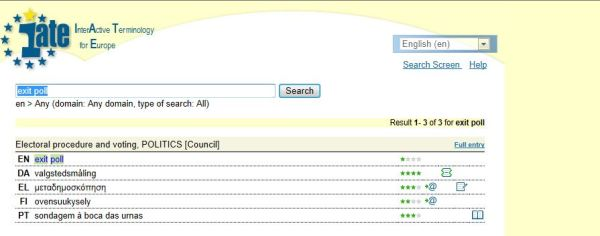 exit poll screenshot