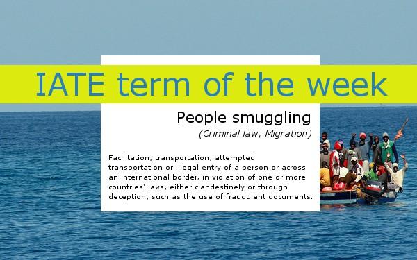 IATE People smuggling