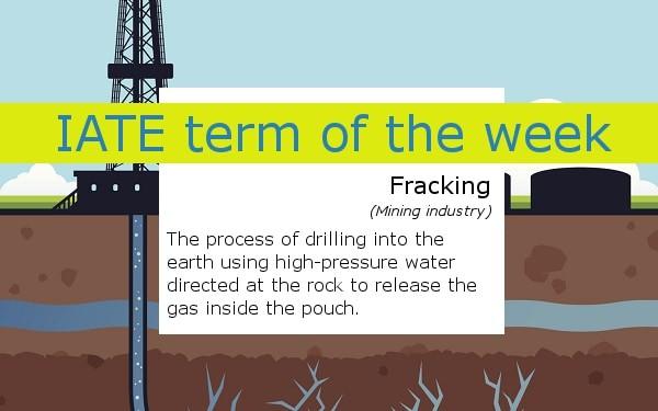 IATE term of the week - fracking