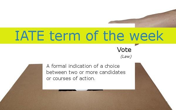 IATE term of the week vote