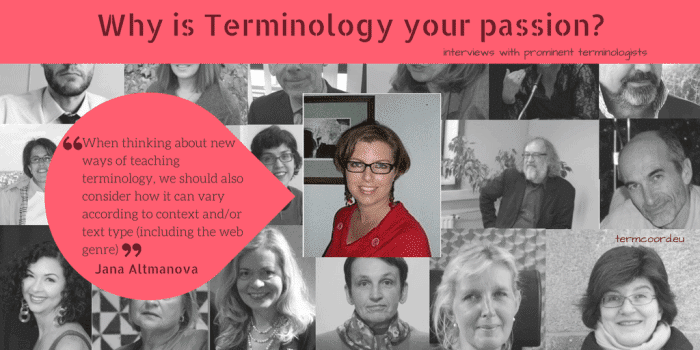 Interview why is Terminology your passion_