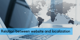 Relation between website and localization