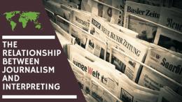 Journalism and Interpreting