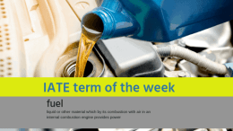 IATE Term of the Week: Fuel