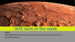 IATE Term of the Week: lander