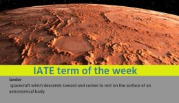 IATE Term of the Week: lander