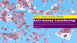 Term of the Week: Anti-Money Laundering (AML)