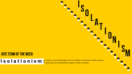 IATE Term of the Week: Isolationism