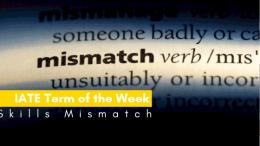 IATE Term of the Week: Skills Mismatch