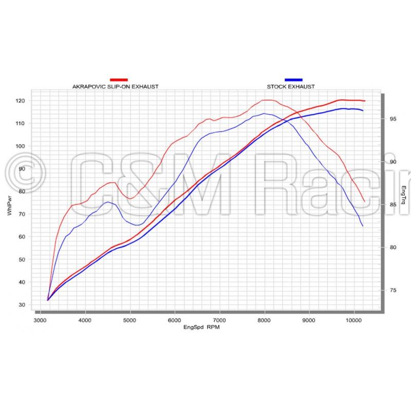 Silencieux adaptables (x2) Akrapovic Slip on carbone