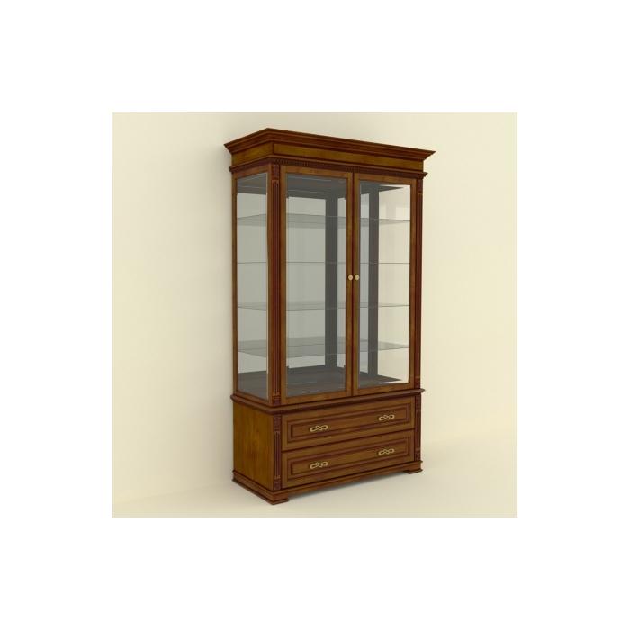 Витрина стеклянная 2-х дверна ВС-10-130(57)