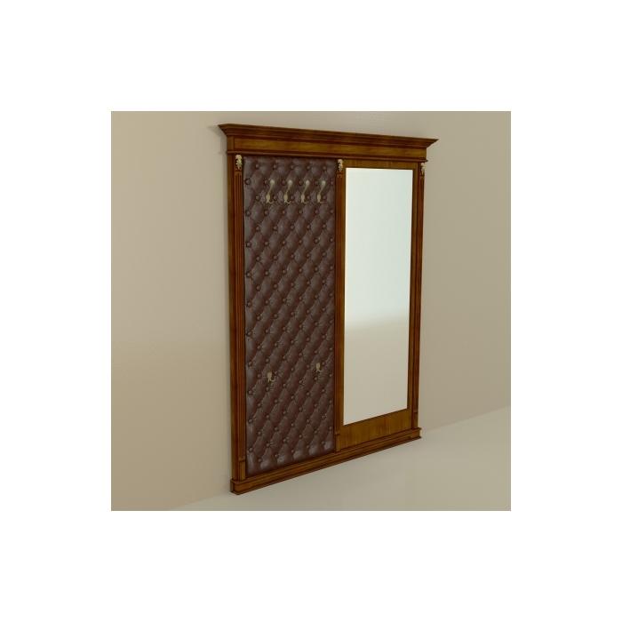 Панель-вешалка с зеркалом ПВЗ- 6-1801 шпон (86)