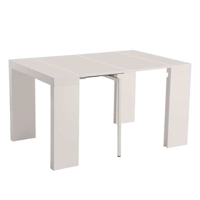 Стол обеденный-консоль N-110 бежевый глянец