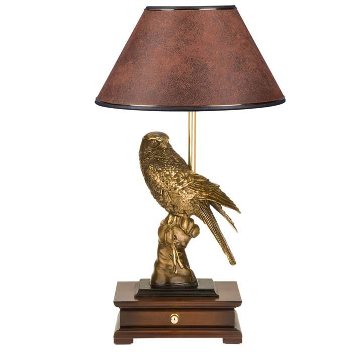 Настольная лампа с бюро Соколиная охота Шоколад