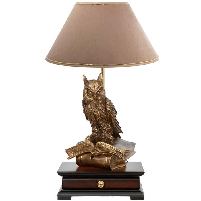 Настольная лампа с бюро Ученый Филин Карамель