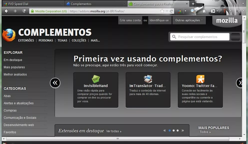 Black Firefox Addons
