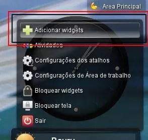 Adicionando widgets