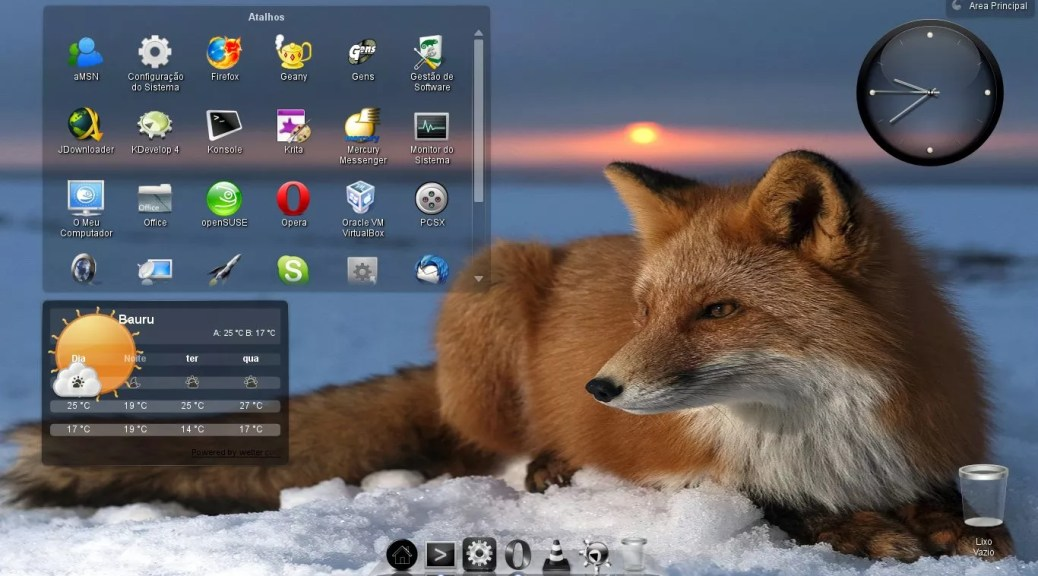 Daisy Dock no OpenSUSE