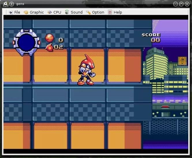 Gens emulando Mega Drive