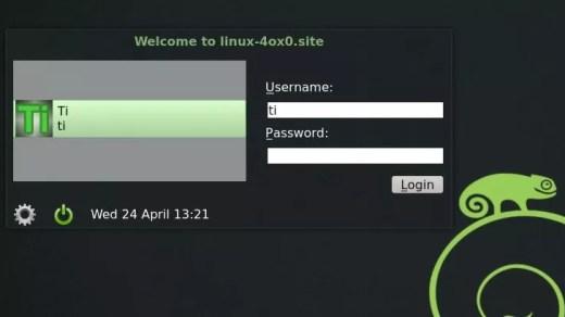 Tela de Login - OpenSUSE 12.3