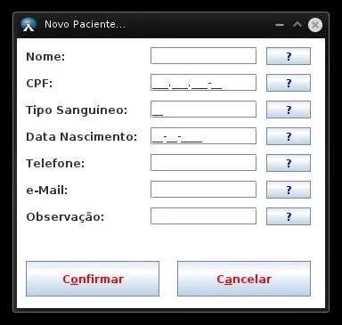 AgendX - Novo Paciente