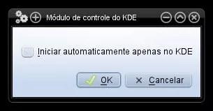 Iniciar serviços somente no KDE?