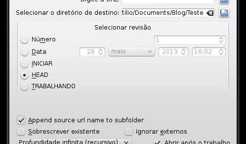 KDESvn - Configurações