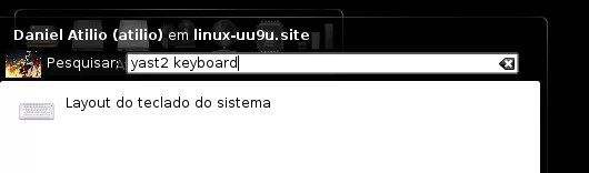 "Procurando ""yast2 keyboard"""