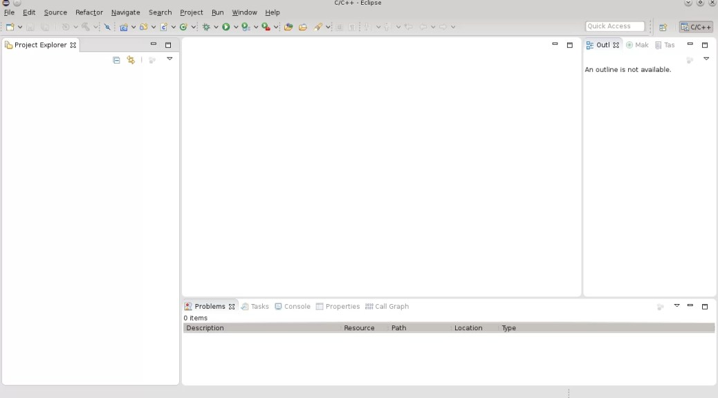 Eclipse com o tema da distro Linux