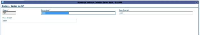 Edição de um registro