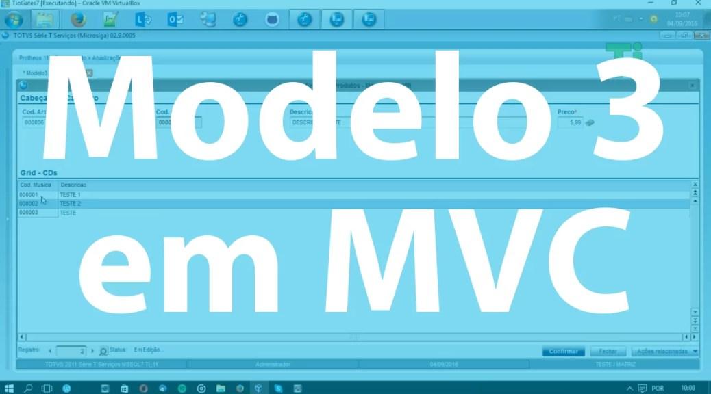 Modelo 3 em MVC