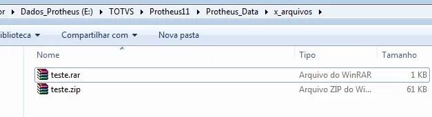 Arquivos compactados