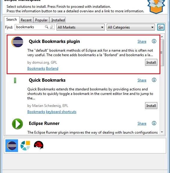 Instalação do Quick Bookmarks plugin
