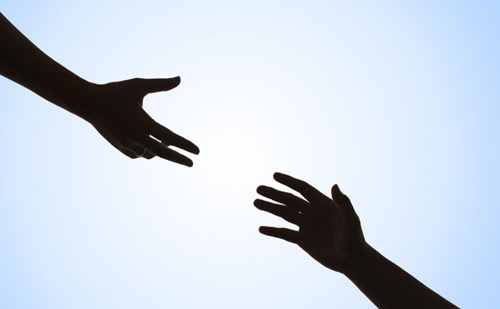 helping hand - reaching out