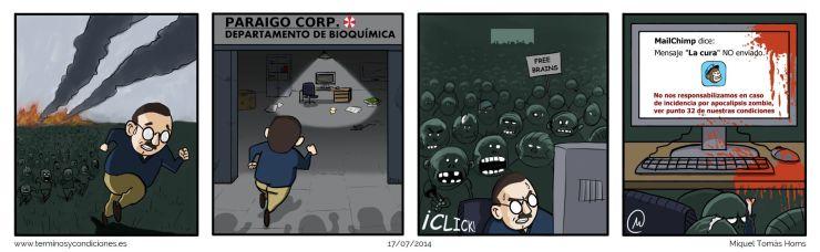 Términos y condiciones, MailChimp y el apocalipsis zombie