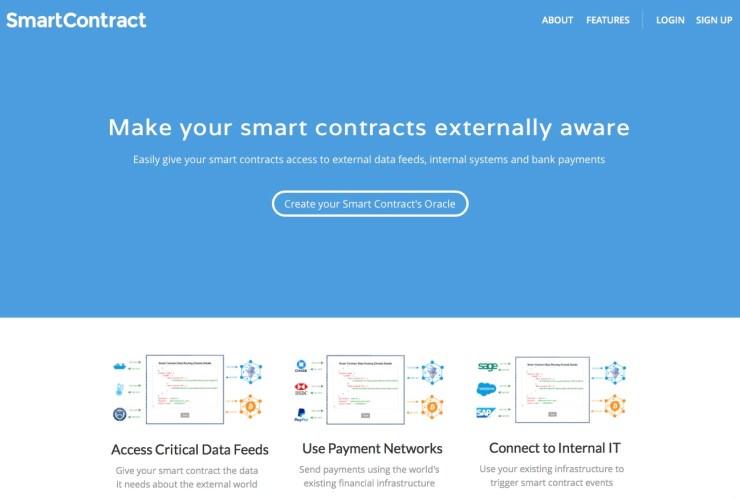 Servicio para crear smart contracts