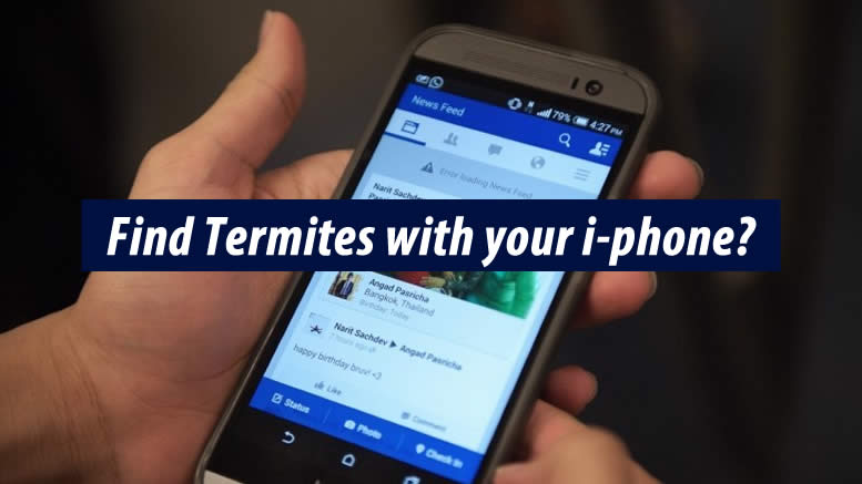 Smartphone app can find termites, the manufacturers says.