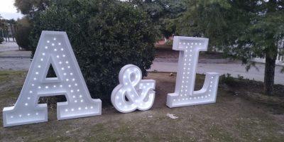 Letras para Boda Gigantes con luces