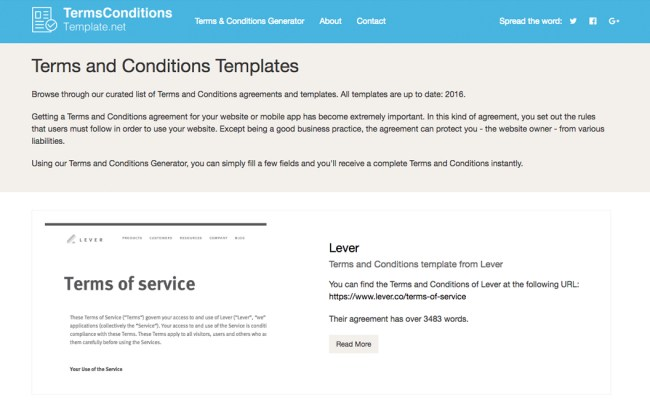 Terms And Conditions Generator Termsconditionstemplate Net
