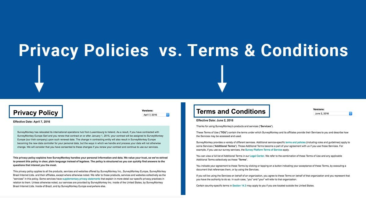 Privacy Policies Vs Terms & Conditions  Termsfeed